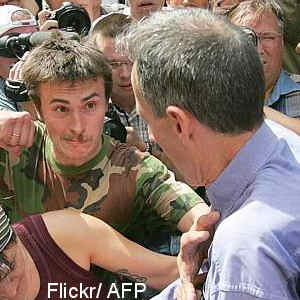 Peter Tatchell Moscow punch